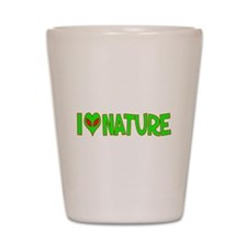 I Love-Alien Nature Shot Glass