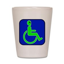 Handicapped Alien Shot Glass