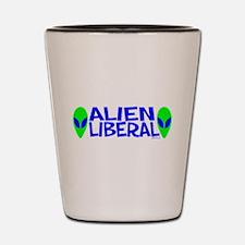 Alien Liberal Shot Glass