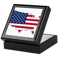 Funny Us map Keepsake Box