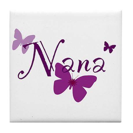 Nana Butterflys Tile Coaster