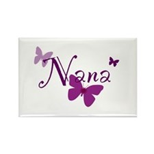 Nana Butterflys Rectangle Magnet
