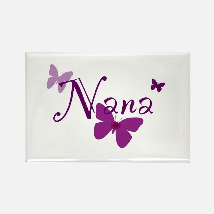 Nana Butterflys Rectangle Magnet