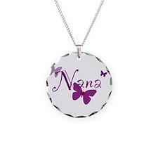 Nana Butterflys Necklace Circle Charm