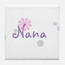 Nana Flowers Tile Coaster