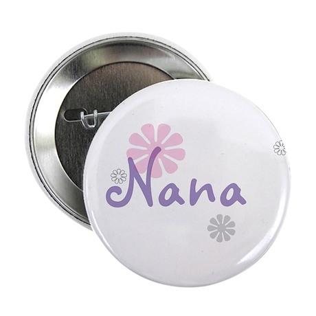 """Nana Flowers 2.25"""" Button"""