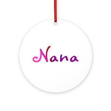 Pink Nana Ornament (Round)