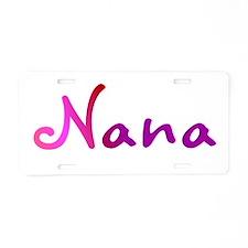 Pink Nana Aluminum License Plate