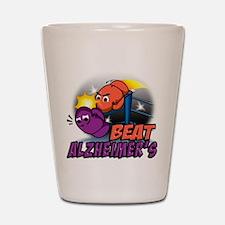 Beat Alzheimer's Shot Glass