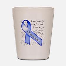 Colon Cancer Survivor Shot Glass