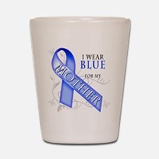 I Wear Blue for my Mother Shot Glass