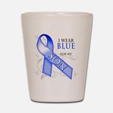 I Wear Blue for my Son Shot Glass