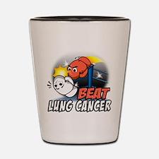 Beat Lung Cancer Shot Glass