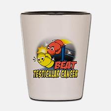 Beat Testicular Cancer Shot Glass
