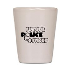 Future Police Officer Shot Glass