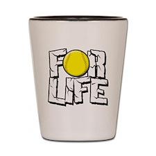 Softball For Life Shot Glass