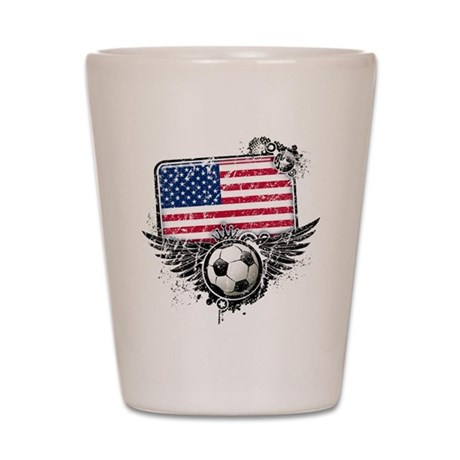 Soccer Fan United States Shot Glass