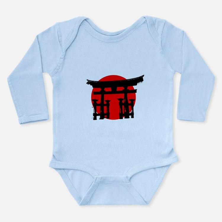 Japan Relief - Shinto Shrine Long Sleeve Infant Bo