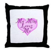 My Mimi Loves Me Throw Pillow