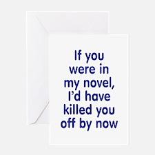 In My Novel - Writer Greeting Card