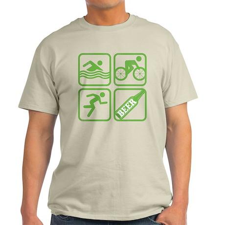 Swim Bike Run Beer! Light T-Shirt