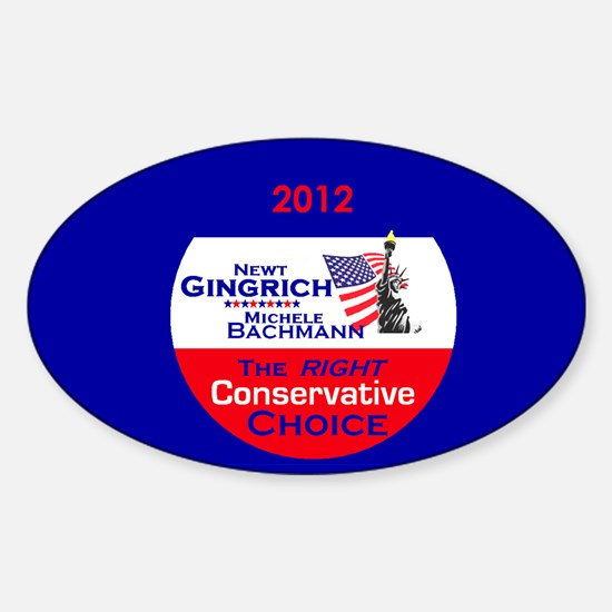 Gingrich Bachmann Sticker (Oval)