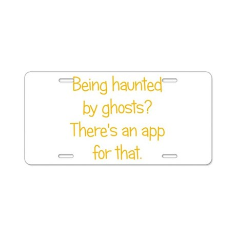 Ghost App Aluminum License Plate