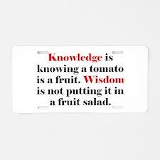 Tomato Knowledge Aluminum License Plate