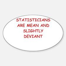 funny math joke Sticker (Oval)