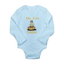 My First Easter Long Sleeve Infant Bodysuit
