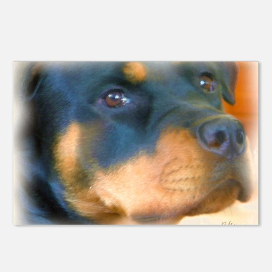 Unique Rottweiler dog Postcards (Package of 8)