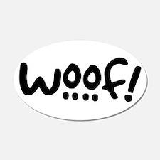Woof! Dog-Themed 22x14 Oval Wall Peel
