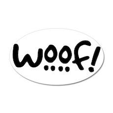 Woof! Dog-Themed 38.5 x 24.5 Oval Wall Peel