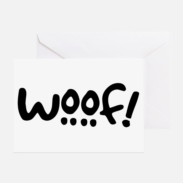 Woof! Dog-Themed Greeting Card