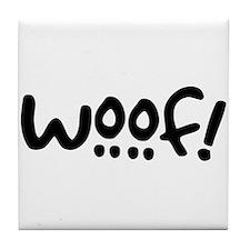 Woof! Dog-Themed Tile Coaster