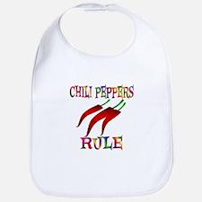 Chili Peppers Rule Bib