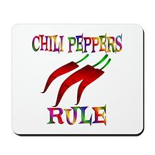 Chili Peppers Rule Mousepad