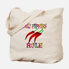 Chili Peppers Rule Tote Bag
