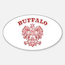 Buffalo Polish Sticker (Oval)