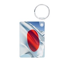 Flag of Japan Aluminum Photo Keychain