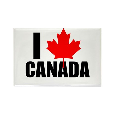 I Heart Canada Rectangle Magnet (100 pack)