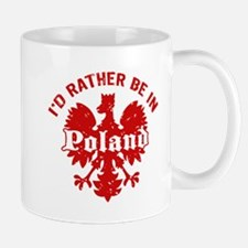 I'd Rather Be in Poland Small Small Mug