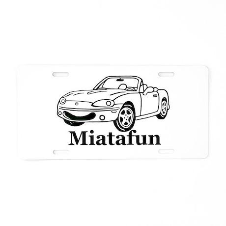 Miatafun Aluminum License Plate