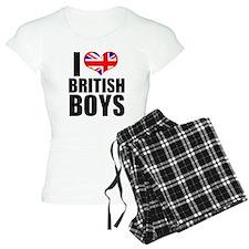 I Heart British Boys Pajamas
