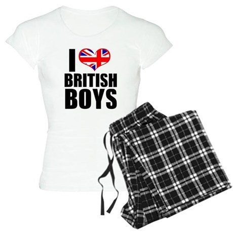 I Heart British Boys Women's Light Pajamas