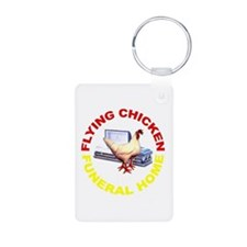 Flying Chicken Funeral Home Keychains