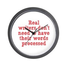 Writers and Word Processing Wall Clock