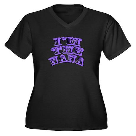 I'm The Nana Women's Plus Size V-Neck Dark T-Shirt
