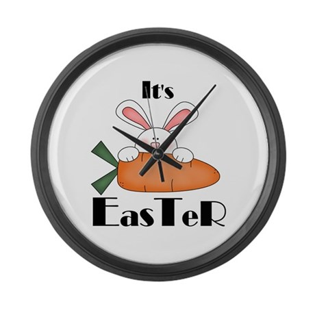 Bunny With Carrot Large Wall Clock