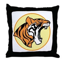 Cute T for tiger Throw Pillow